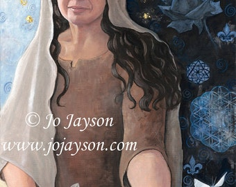 """Mary The Mother - Reproduction Giclee on canvas 24""""x48"""""""