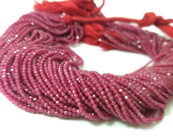 AAA Micro Red Spinel Ruby Faceted Rondelle Beads 2-2.5mm Strands 13'',Tiny Red Spinel Beads,Micro red Ruby Beads,Spinel Beads,red glass Bead