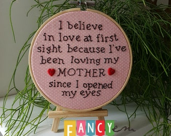 Mother's Day gift, quote hoop, mum quote, mothers Day, love mum