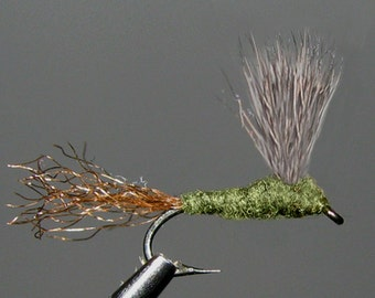 Blue Wing Olive Sparkle Duns one half dozen size 16 or 18 trout fishing dry flies