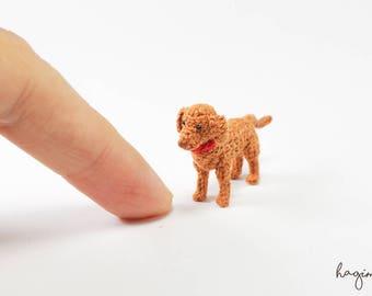 Miniature vizsla crochet dog, Vizsla puppy crochet, tiny crochet dog