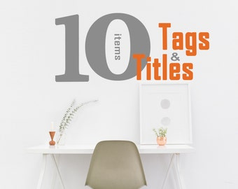 SEO for 10 items - SEO Service, SEO Relevancy, Keywords Help, Etsy Marketing Help, Shop Critique, Selling on Etsy, Listing Review