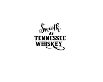 SOLID FONT - Smooth and Tennessee Whiskey SVG