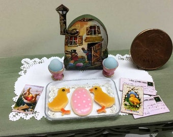 Egg Cottage Whimsy with Sweet Cookies