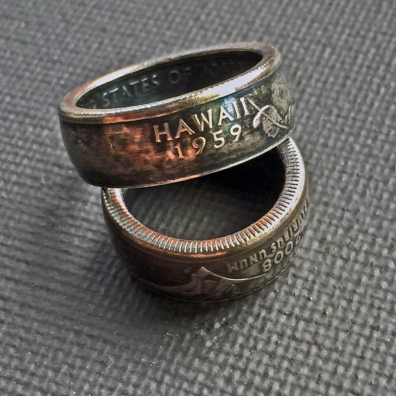 Coin RingHawaiian JewelryHawaiian RingQuarter RingJewelryRings
