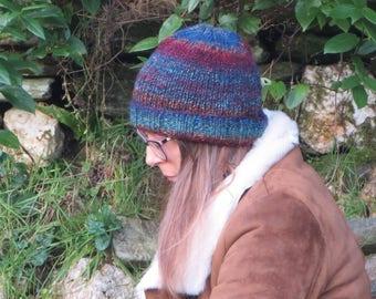 Multicolour darks winter hat