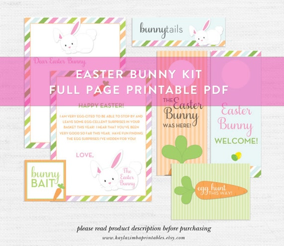 Easter Bunny Printable Bundle Bunny Bait Easter Egg Hunt
