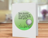 Golf card for Dad, Funny ...