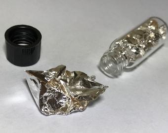 Silver Metal Foil 99.99% Pure Element 47 Ag Chemistry Sample