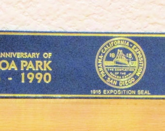 BALBOA PARK 75th Anniversary Bookmark, Leather Bookmark