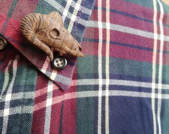 Ram skull brooch