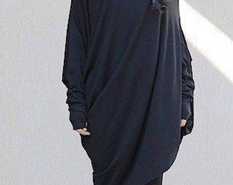 off the shoulder top, loose blouse, Asymmetric tunic, baggy blouse, loose fitting tops, loose fit tops, asymmetric, Oversized top, tunic