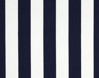 """Navy Blue  Table Runner-Blue Table Coth.Navy & White Striped Table Runner- 12"""" x 60"""" or 12"""" x 72"""""""