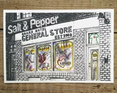 Toronto Postcard / Toronto Art / Toronto Themed Postcards / Watercolor Postcard /  Drake Hotel General Store