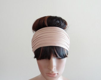 Light Tan Headband. Light Tan Head Wrap