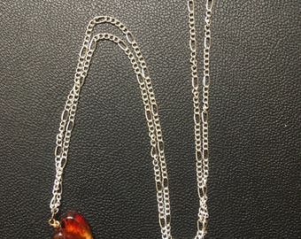 Glass Bead Heart Necklace