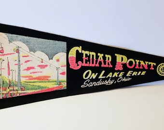 Cedar Point, Sandusky, Ohio - Vintage Pennant