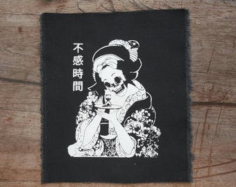 Geisha patch • back patch • woman • punk patch • patches • death patch • cultural patches • custom patches • anime patches  • kawaii