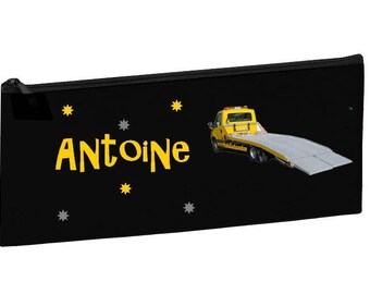 Kit school black tow truck personalized with name