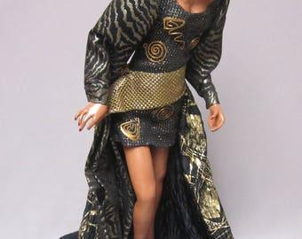 "Afro-American fashion model ""Kia"" artist doll"