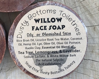 Willow Face Soap for Oily or Blemished Skin