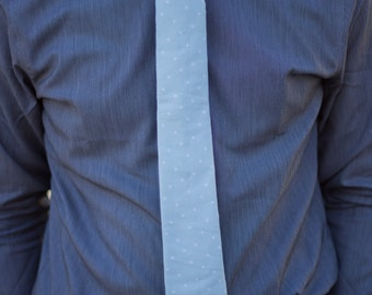 Light Mint with White Polka Dot Skinny Necktie