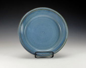 Pottery Pie Plate.  Stoneware.  Light blue.  Ready to ship.