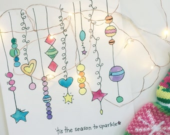 Season To Sparkle Downloadable Print