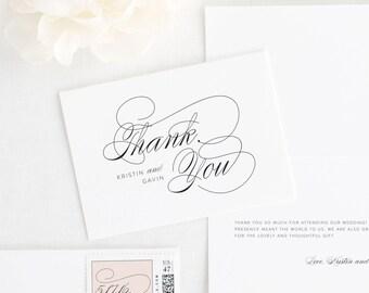Script Elegance Thank You Cards