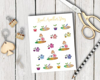 MISU's Garden Planner Stickers by KnotAnotherDay