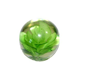 Cactus paperweight etsy vintage glass paperweight green cactus flower paperweight round globe paperweight desk accessory mightylinksfo