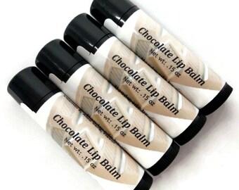 Chocolate Lip Balm, Natural Lip Balm, Flavored Lip Balm, Handmade Lip Balm, Gift under 5