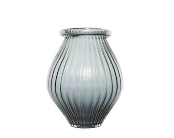 Rolled neck Darlington vase - W 28 cm / D 28 cm / H 34 cm / 4.8 kg
