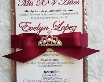 Xv aos invitations Etsy