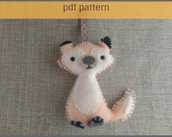 Felt Pattern-Felt-Woodland Fox- Sewing Pattern Tutorial-Felt PDF Pattern-Decor-Felt Patterns-DIY Gift-Felt Fox Ornament