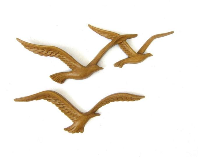 Vintage set of flying birds Flock of Seagulls Modern Home Ranch Decor Wall Hanging