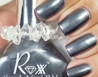 Hematite Polish - Finding the Balance - Unique Nail Polish - Crystal Infused Vegan - Non Toxic - Crystal Energy