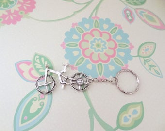 Silver Bicycle Keychain - Ready to Ship