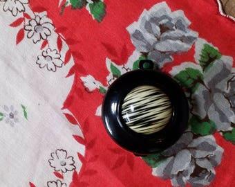 Vintage Button Barrette
