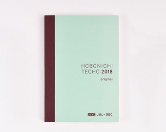 Hobonichi techo avec Original July - Dec 2018 planner A6 size New