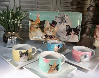 10 Piece~~Grumpy Cat Tea Time... Tea/Coffee/Espresso time... any time! New Condition