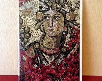 Goddess Art, Woman Cards, Mosaic Artwork, Synagogue Mosaic, Ancient Art, Synagogue Mosaic Floor, Israeli Sites, History Gift, Note Cards