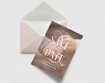 Fancy Script Save the Date Card - Digital or Printed
