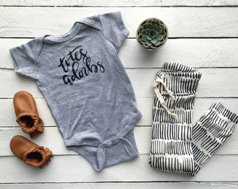 Totes Adorbs Unique Infant Bodysuit • Handlettered Cotton Baby Outfit • Totes Adorbs Calligraphy Baby Design • FREE SHIPPING