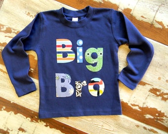 Big Brother Shirt...Big Bro, Mid Bro, Lil Bro...Long or Short Sleeved- 0-3m to 12 yrs