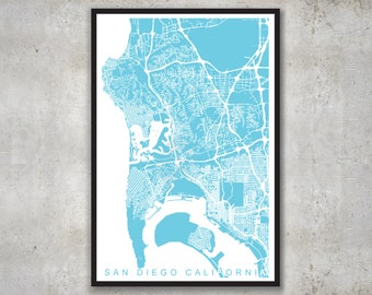 San Diego Map, SD Parcel Map Print
