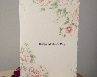 Letterpress Floral Mother's Day Greetings Card