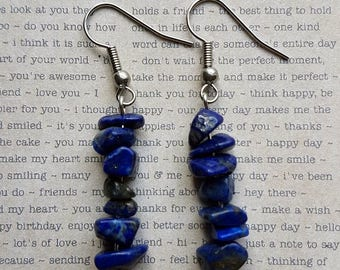 Lapis Lazuli earrings | Lapis Lazuli jewellery | Gemstone earrings | Blue gemstone earrings | Blue stone earrings