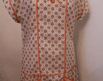 RESERVED Vintage Antique 1920s Orange White and Black Flapper House Sailor Collar
