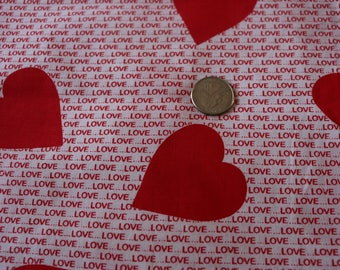 16  Vintage Hearts with words of love. Red and white. Valentines